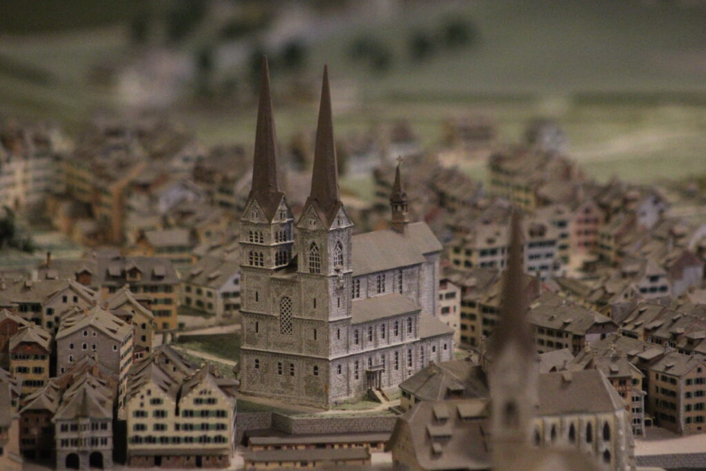 Haus zum Rech: Stadtmodell um 1800 (Bild: Zürich-Versteckt)