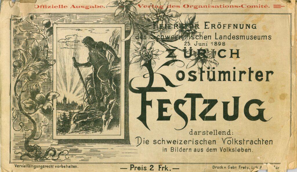 Landesmuseum, Einweihungsschrift von 1898